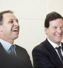 Von links: Americamovil CEO Daniel Hajj, Amerivamovil CFO Carloo Garcia Moreno.