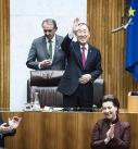 UNO Generalsekretär Ban Ki Moon bei Auftritt im Parlament in Wien.