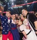 """Finalisten der ORF-Unterhaltungsshow """"Dancing Stars"""" im großen Sendesaal."""